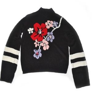 H&M Divided Floral Print Wide Sleeves Sweater M